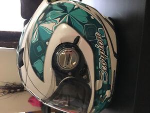 Women's Motorcycle Helmet & Gloves