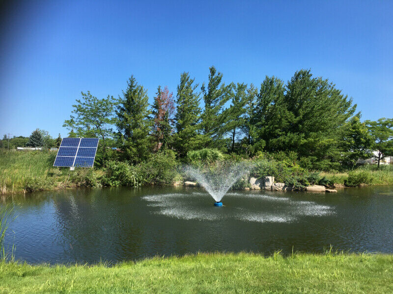 POND WINDMILL OR SOLAR FOUNTAIN SYSTEM?