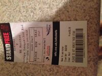 Ticket for Aberdeen v Maribor. Front centre south stand. Face value £21