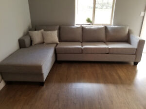 Grey Fabric Sectional