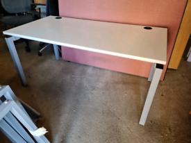 White executive office desks