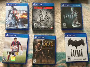 PS4 games great condition!
