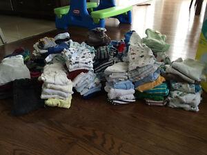 Lot vêtements garçon taille 0 à 6 mois