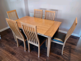 Free Wooden Dining Table with 6 chairs