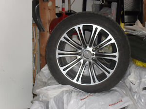 "Nankang snow viva sv1 17"" snow tires on BMW rims 225/50/17"