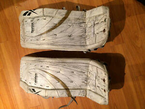 White/gold premier series 3 goalie pads