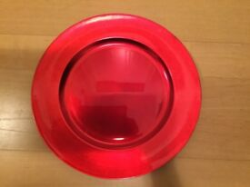 Red Decorative plate