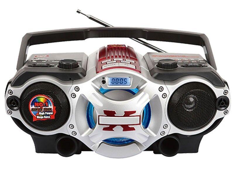 Supersonic SC-1495BT Portable MP3 Audio Player boombox +Bluetooth +USB/SD/AUX