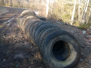 FREE tires for raised flower beds  or a pond