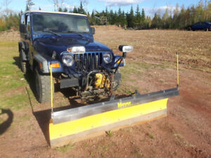 2002 Jeep T.J with Meyers Plow $4800