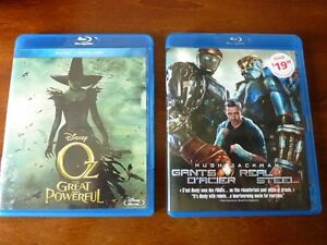 Blu Rays- Real Steel and Oz- The Great and Powerful