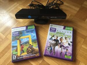 Console X Box 360: Kinect + Nat Geo + Kinect Sports / 40$