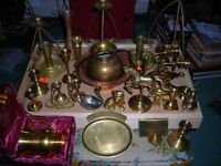 for sale a box off nice pices of brass over 30 pices;