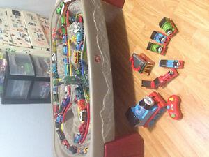 Thomas train table & trains