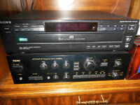 Sony 5 Disc CD Player + Speakers + TEAC Amplifier A-X75 MKII