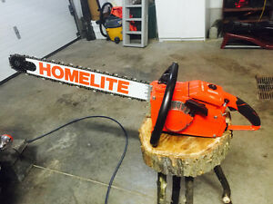 "Homelite xl 76 chainsaw with 24"" bar"