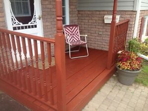 WE WILL STAIN YOUR DECK TODAY. Belleville Belleville Area image 1