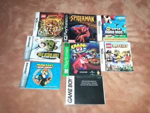 for sale video games manuals bundle all for 15 dollars firm.