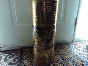 Vintage Gold Colored Tin Vase/Holder