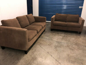 Brown Couch SET  -  Delivery