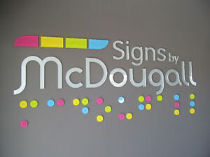 Dimensional Wall Lettering & Graphics for your Office