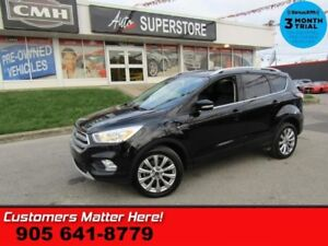 2017 Ford Escape Titanium  AWD NAV ROOF LEATH P/GATE BS HS PARK-