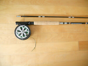 Canne moulinet a mouche a Truite, Fly fishing rod and reel