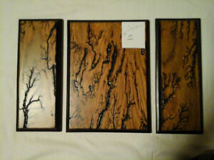 Wood Burning Figures on Oak Plywood with Veneer Finish