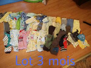 Lot de vêtements 3 mois pour garçon