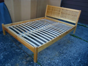 Beautiful SOLID WOOD Queen Bed with slats to support a mattress