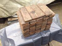 Parquet flooring. Teak/mahogany 18square meter