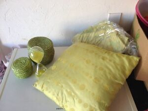 Green bedroom accessories