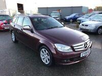 Mercedes C200 SE Cdi Auto Estate, Heated Leather, Satalite Navigation, Bluetooth, 3 Month Warranty