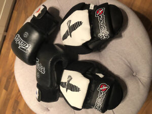 Fairtex Muay Thai Gloves and Hayabusa Miits