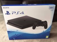 Playstation 4 Slim-Bundle- Brand New Red V2 Controller and Fifa 2017