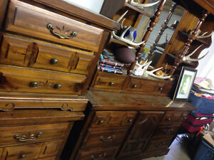 Pine dresser and side dressers, made in Canada $225