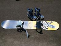 Planche a neige et botte - snowboard