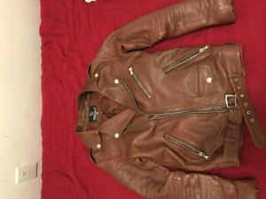 Quality genuine leather motorcycle jacket (made in Italy)