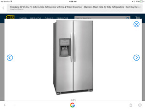 """GE 2 door side by side, 36"""" with ice/water dispenser"""