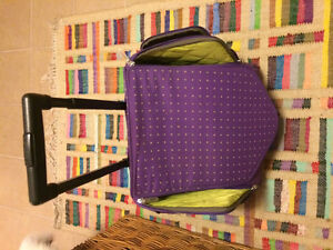 Gorgeous almost new purple dance gymnastic bag on wheels