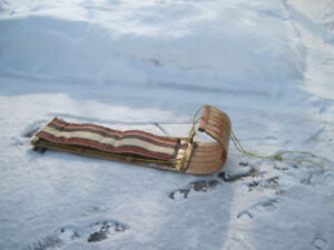 Vintage Toboggan with Original pad
