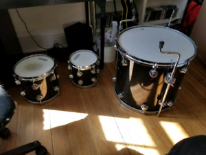 8 10 and 18 toms Dw Jazz Series Custom Toms