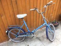 Halford's vintage folding bicycle