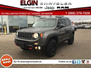 2016 Jeep Renegade Trailhawk***Leather,B-up Cam,4x4*** London Ontario image 1