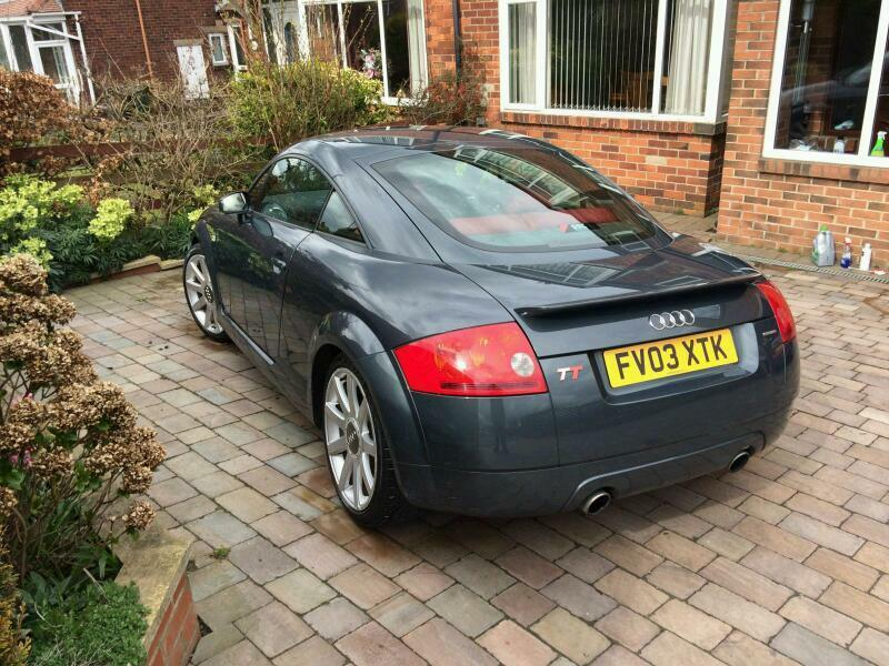 gorgeous 2003 audi tt 225 quattro in dolomite grey with red leather in knaresborough north. Black Bedroom Furniture Sets. Home Design Ideas