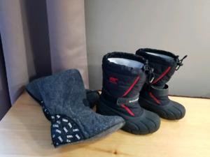 Boys winter boots, sz 2, Sorel
