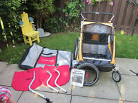 Chariot Bike Trailer/Double Stroller with tons of extras