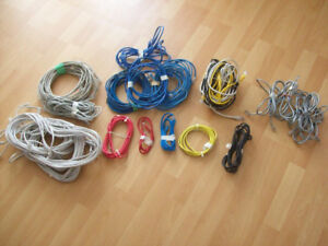 COMPUTER  NETWORK  PATCH CORDS  --  ETHERNET