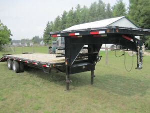 2011 Parker Gooseneck Equipment Trailer