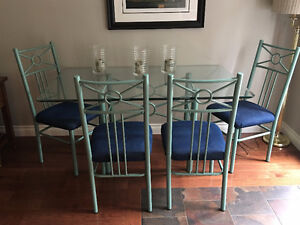 Glass DiningTable with 4 Chairs
